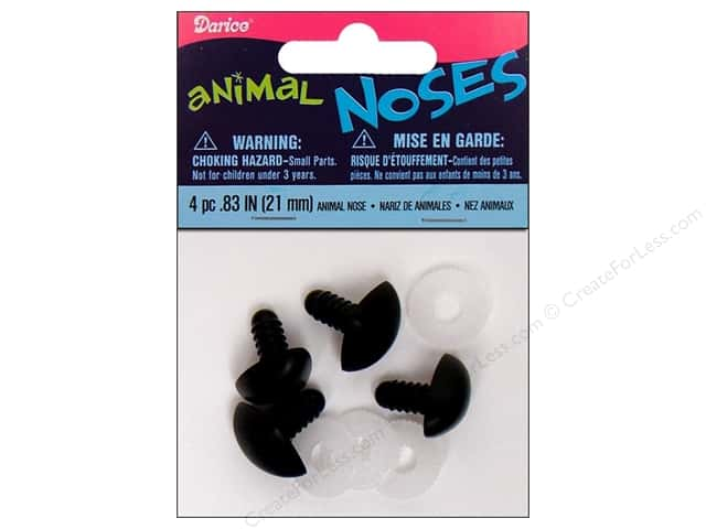 Darice Animal Nose 21 mm Black 4 pc.