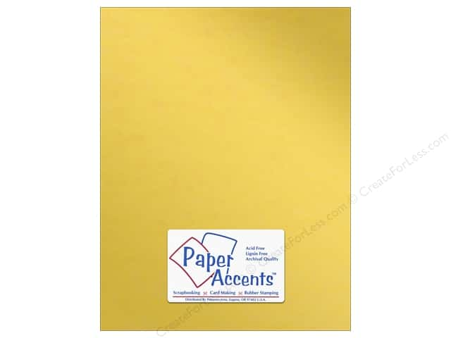 Paper Accents Anodized Cardstock 8 1/2 x 11 in. #8832 Gold Cup (25 sheets)