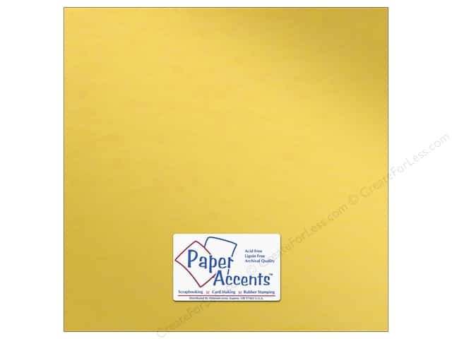 Anodized Cardstock 12 x 12 in. Gold Cup by Paper Accents (25 sheets)