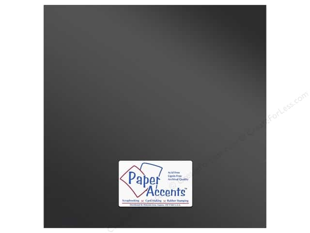 Anodized Cardstock 12 x 12 in. Asphalt by Paper Accents (25 sheets)