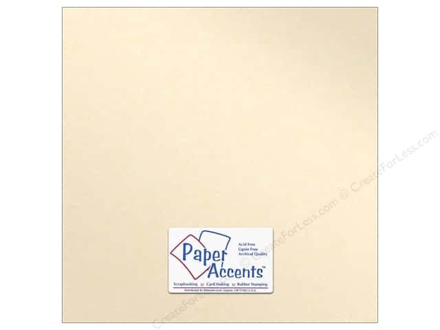 Paper Accents Pearlized Paper 12 x 12 in. #8820 Cameo (25 sheets)