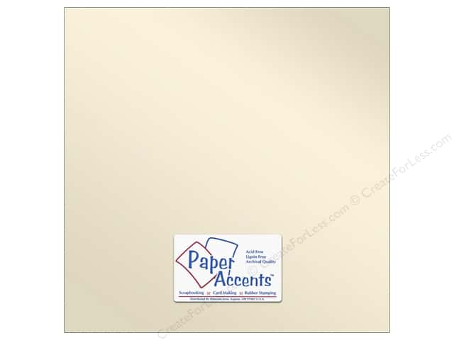 Pearlized Paper 12 x 12 in. #8821 Champagne by Paper Accents (25 sheets)