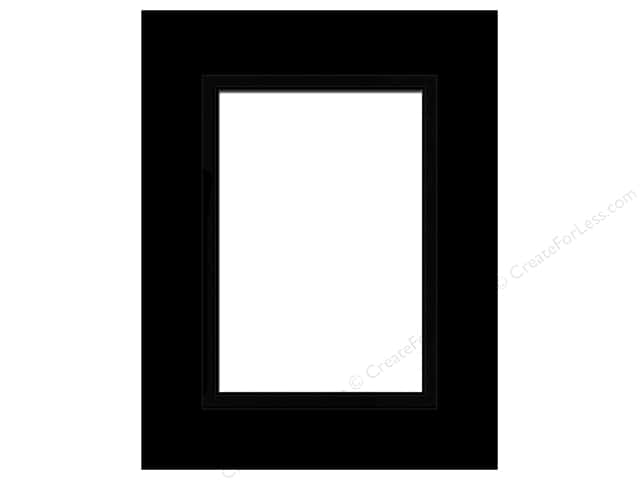 PA Framing Pre-cut Double Photo Mat Board Black Core 16 x 20 in. for 11 x 14 in. Photo Black/Black