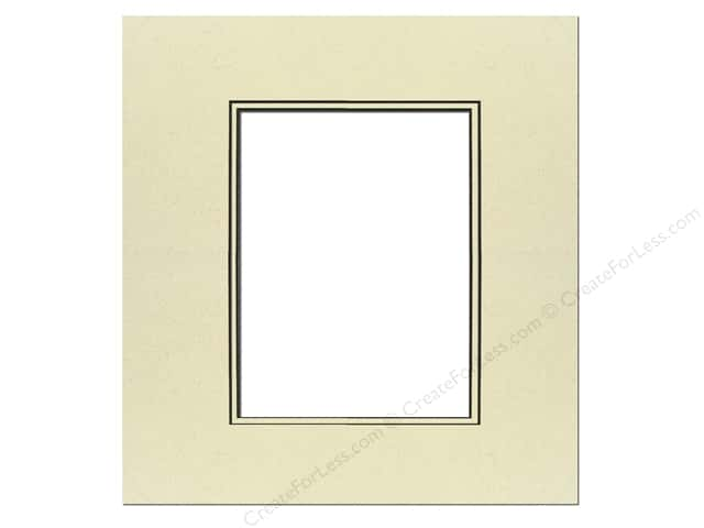 Pre-cut Double Photo Mat Board by Accent Design Black Core 16 x 20 in. for 11 x 14 in. Photo Spice/Spice