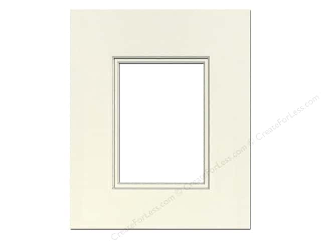 Pre-cut Double Photo Mat Board by Accent Design Cream Core 16 x 20 in. for 11 x 14 in. Photo Ivory/Ivory