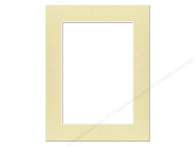 Pre-cut Photo Mat Board by Accent Design Cream Core 12 x 16 in. for 9 x 12 in. Photo Beach