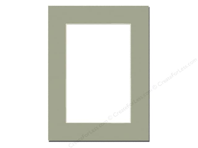 Pre-cut Photo Mat Board by Accent Design Cream Core 12 x 16 in. for 9 x 12 in. Photo Moss