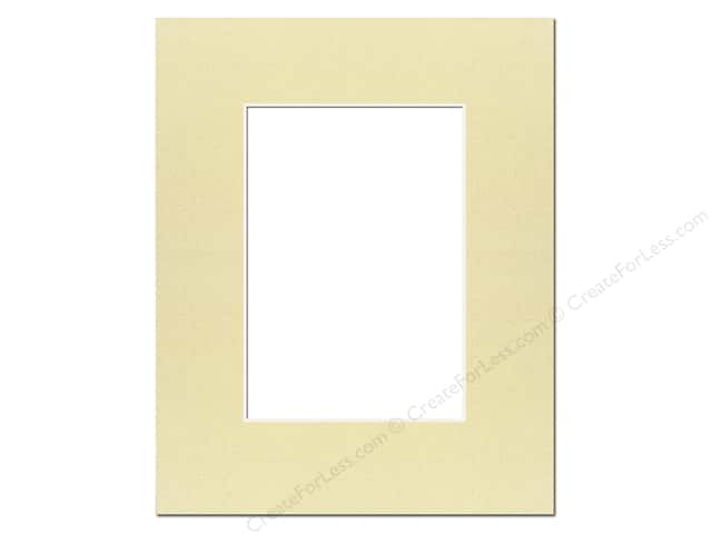 Pre-cut Photo Mat Board by Accent Design Cream Core 16 x 20 in. for 11 x 14 in. Photo Beach
