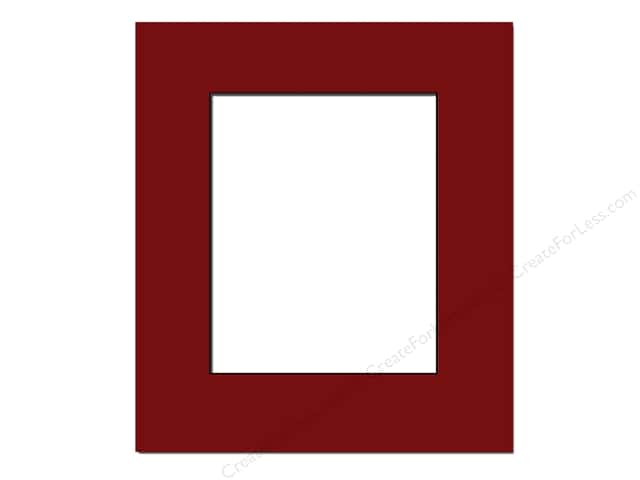 Pre-cut Photo Mat Board by Accent Design Black Core 16 x 20 in. for 11 x 14 in. Photo Deep Red