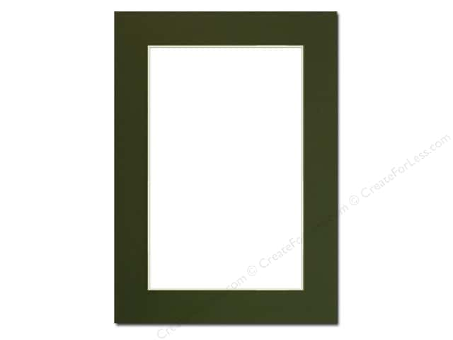 Pre-cut Photo Mat Board by Accent Design Cream Core 5 x 7 in. for 4 x 6 in. Photo Hunter Green