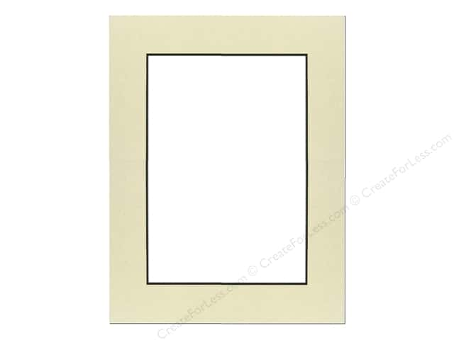 Pre-cut Photo Mat Board by Accent Design Black Core 8 x 10 in. for 5 x 7 in. Photo Spice