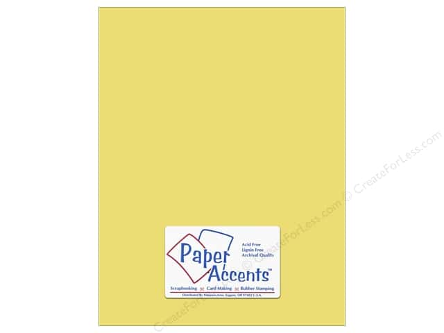 Cardstock 8 1/2 x 11 in. #6155 Smooth Buttercream by Paper Accents (25 sheets)