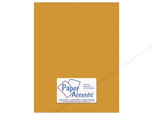 Cardstock 8 1/2 x 11 in. #6156 Smooth Pineapple by Paper Accents (25 sheets)