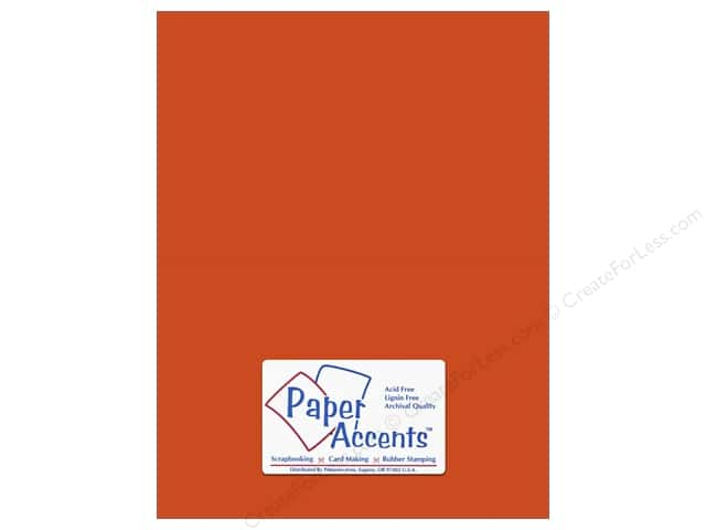 Cardstock 8 1/2 x 11 in. #6158 Smooth Flame by Paper Accents (25 sheets)
