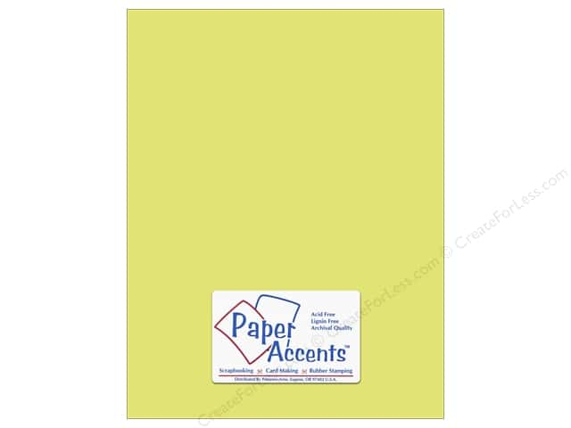 Cardstock 8 1/2 x 11 in. #6163 Smooth Citron by Paper Accents (25 sheets)