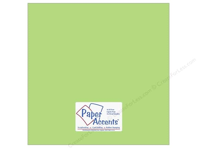 Cardstock 12 x 12 in. #6150 Smooth Spearmint by Paper Accents (25 sheets)