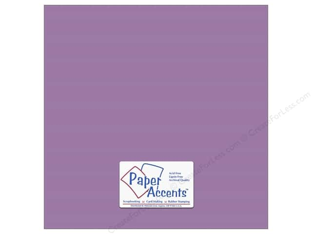 Cardstock 12 x 12 in. #6154 Smooth Orchid by Paper Accents (25 sheets)