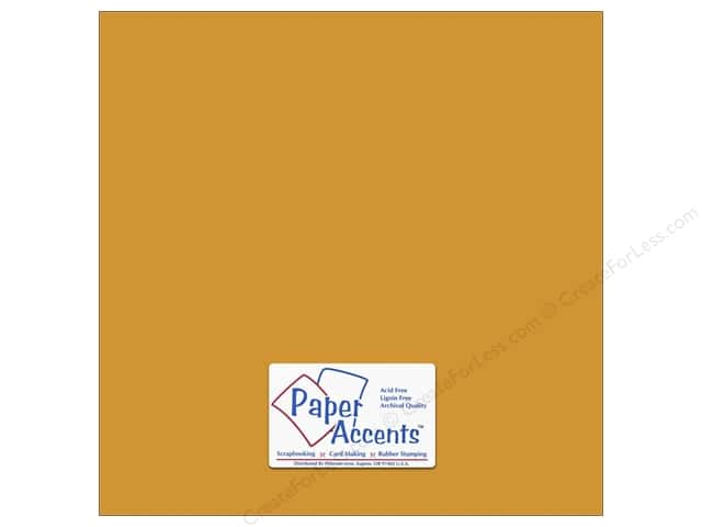 Cardstock 12 x 12 in. #6156 Smooth Pineapple by Paper Accents (25 sheets)