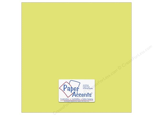 Cardstock 12 x 12 in. #6163 Smooth Citron by Paper Accents (25 sheets)