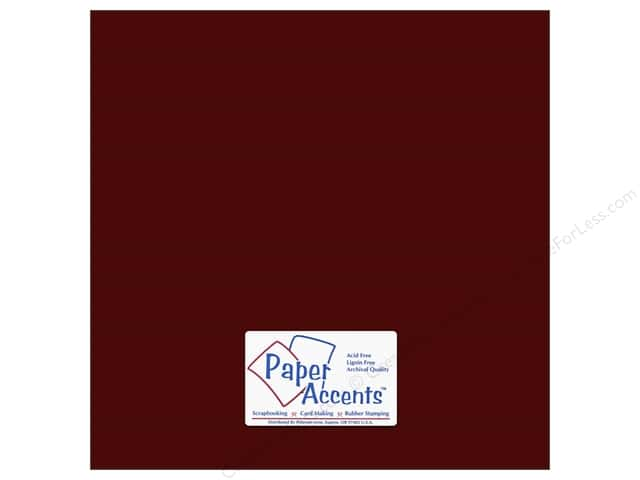 Cardstock 12 x 12 in. #69 Smooth Pomegranate by Paper Accents (25 sheets)