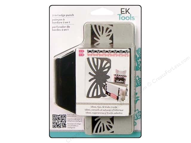EK Success 2 In 1 Edge Punch Striped Butterfly