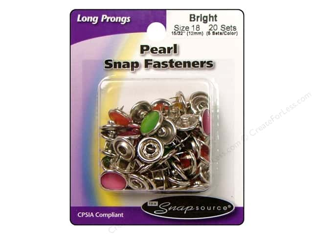 Snapsource Pearl Snap Fastener Size 18 Pearl Bright