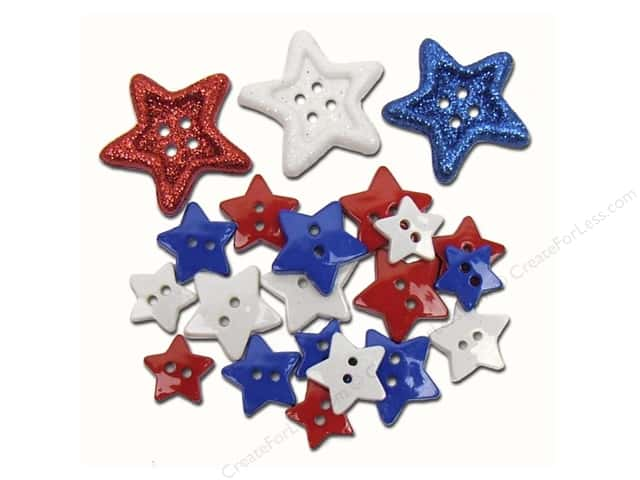 Jesse James Dress It Up Embellishments Red, White and Blue Stars!
