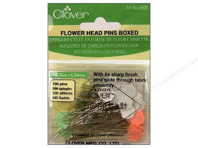 Clover Flower Head Pins 100 pc.