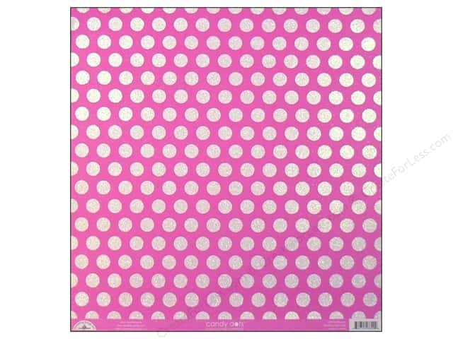 Doodlebug 12 x 12 in. Paper Candy Dots Bubblegum (25 sheets)