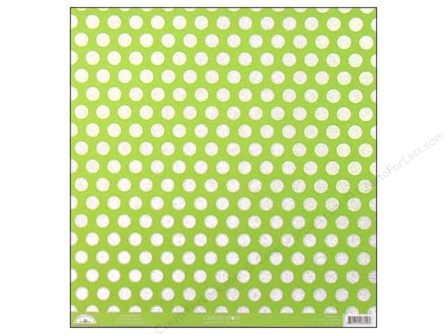 Doodlebug 12 x 12 in. Paper Candy Dots Limeade (25 sheets)