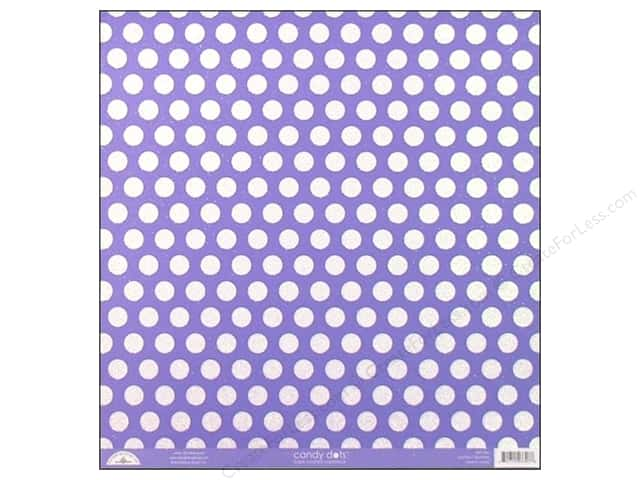 Doodlebug Paper 12 x 12 in. Candy Dots Lilac (25 sheets)