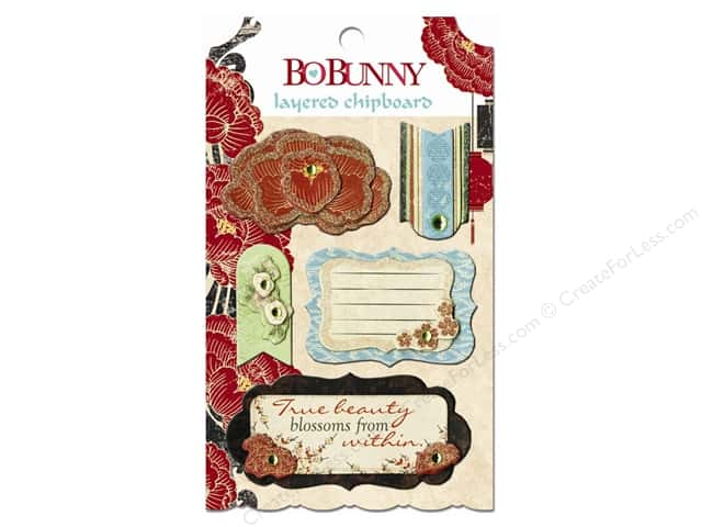 Bo Bunny Layered Chipboard Stickers Serenity