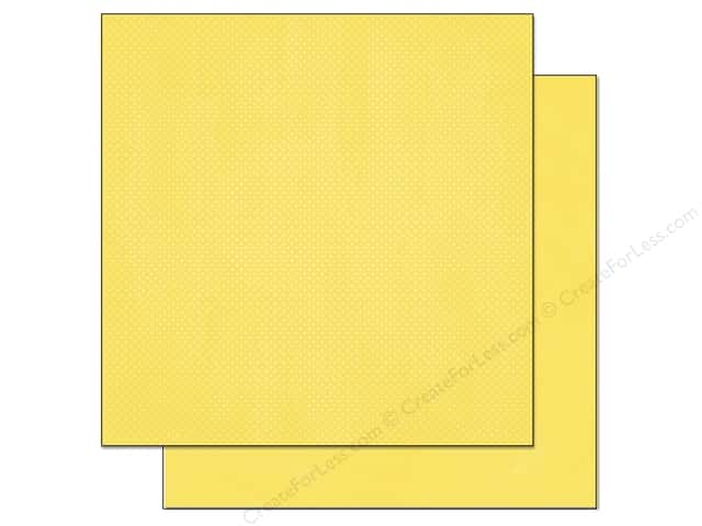 Bo Bunny 12 x 12 in. Paper Double Dot Collection Lemonade