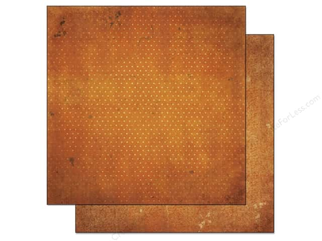 Bo Bunny 12 x 12 in. Paper Vintage Dot Collection Burnt Orange (25 sheets)