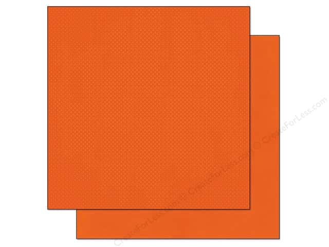 Bo Bunny 12 x 12 in. Paper Double Dot Pumpkin Dot (25 sheets)