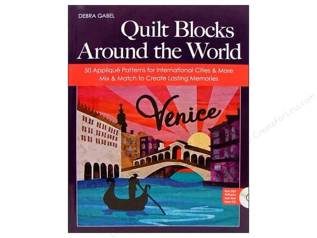 C&T Publishing Quilt Blocks Around The World Book by Debra Gabel