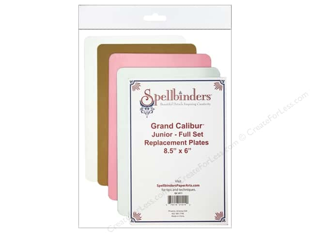 "Spellbinders Accessories Grand Calibur Replacement Plates Junior 8.5""x 6"""