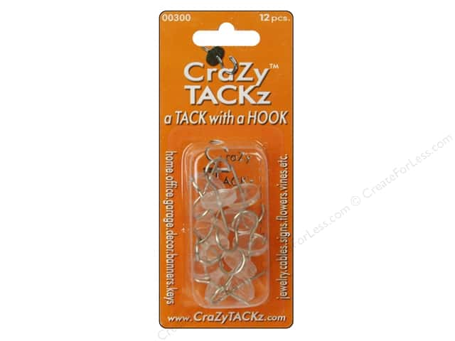 Crazy Tackz Tack With A Hook Round Clear 12pc