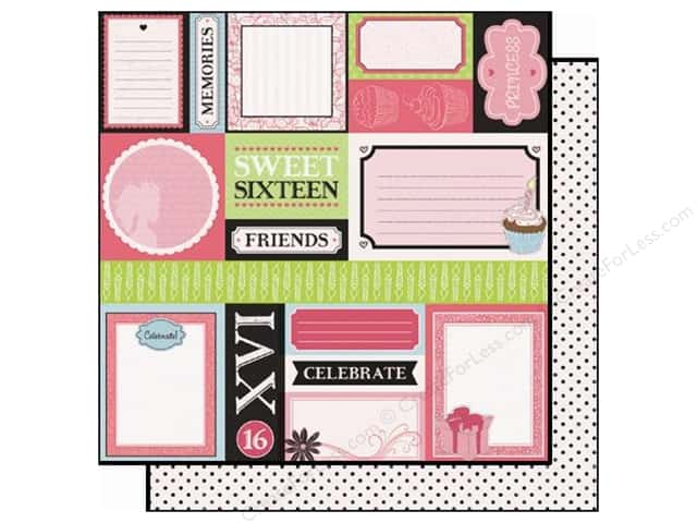 Best Creation 12 x 12 in. Paper Sixteen Candles Making Memories (25 sheets)