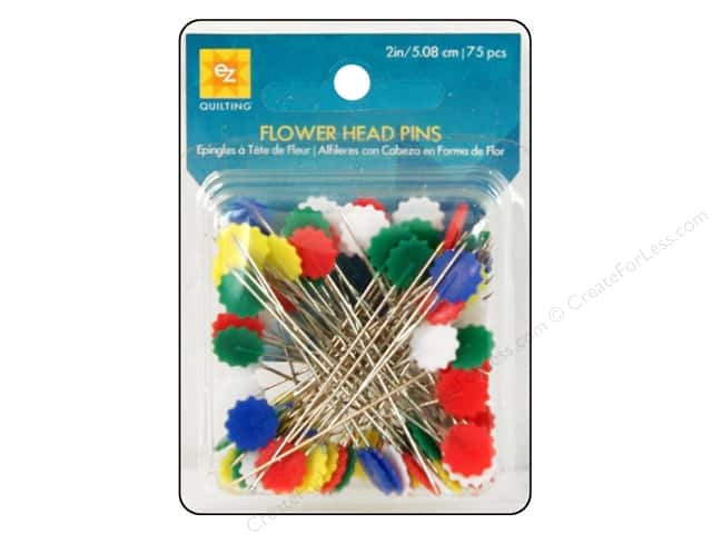 EZ Pins Flat Flower Head 75pc