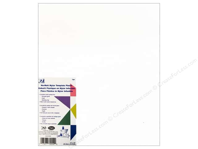EZ Quilting Template Plastic 12 x 18 in. No Melt Mylar