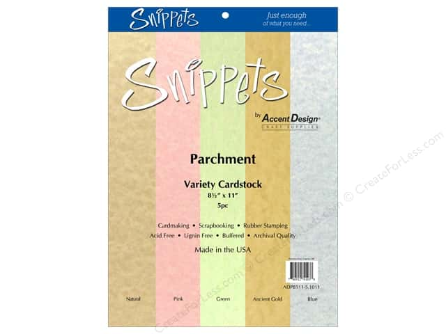 Cardstock Variety Pack 8 1/2 x 11 in. Parchment 5 pc. by Paper Accents