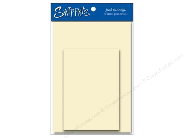 5 x 7 in. Blank Card & Envelopes by Paper Accents #119 Cream 2 pc.