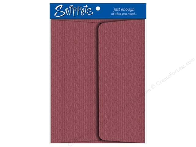 4 1/4 x 5 1/2 in. Envelopes by Paper Accents 3 pc. Textured Pearlalized Berry