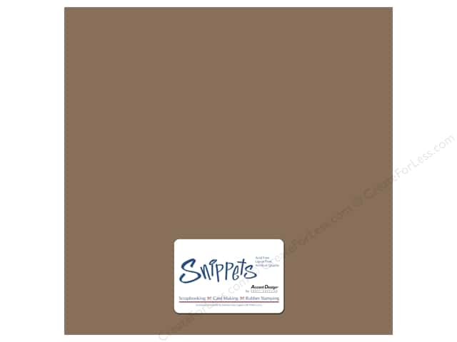 Cardstock 12 x 12 in. #357 Smooth Recycled Brown Bag by Paper Accents 3 pc.
