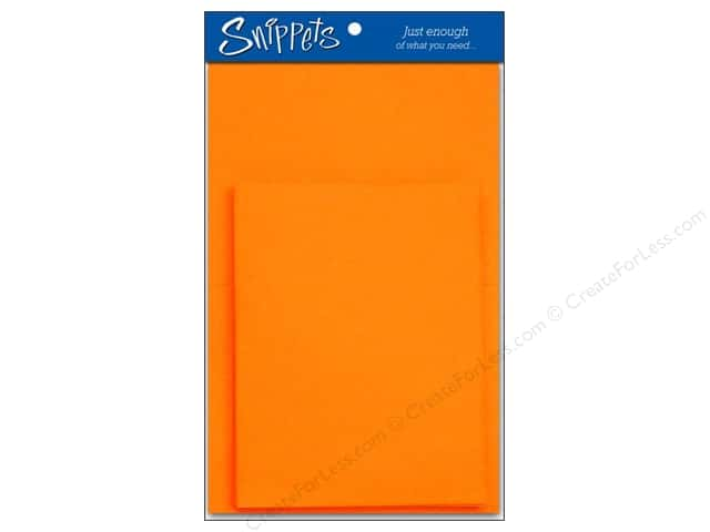 Paper Accents 4 1/4 x 5 1/2 in. Blank Card & Envelopes 3 pc. Orange