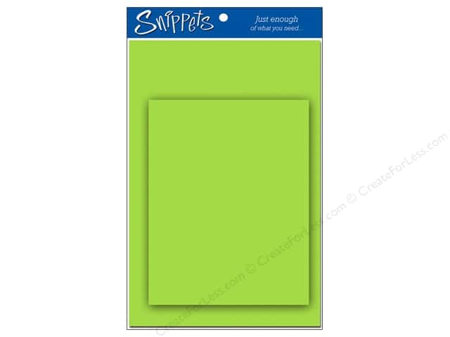 Paper Accents 4 1/4 x 5 1/2 in. Blank Card & Envelopes 3 pc. Lime Green