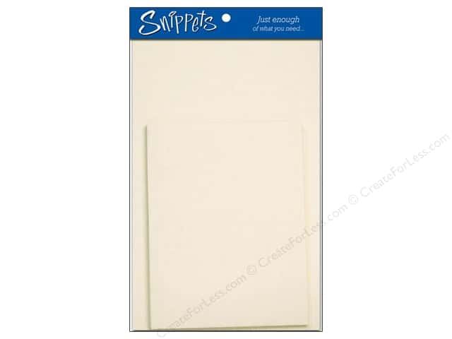 Paper Accents 4 1/4 x 5 1/2 in. Blank Card & Envelopes 3 pc. Cream