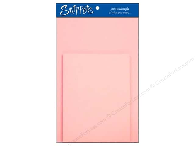 Paper Accents 4 1/4 x 5 1/2 in. Blank Card & Envelopes 3 pc. Light Pink