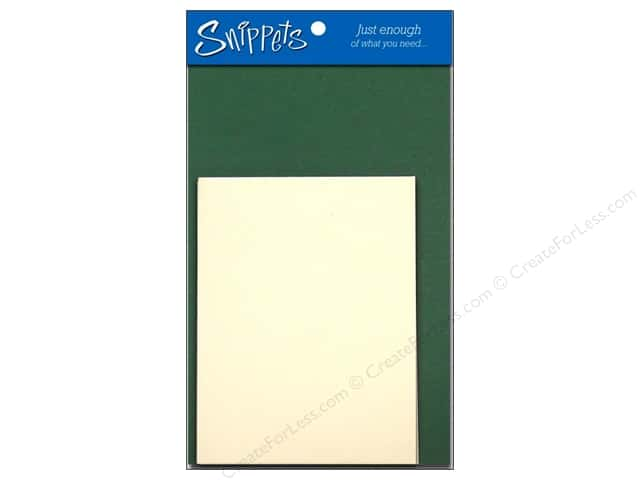 Paper Accents 4 1/4 x 5 1/2 in. Blank Card & Envelopes 3 pc. Dark Green/Cream